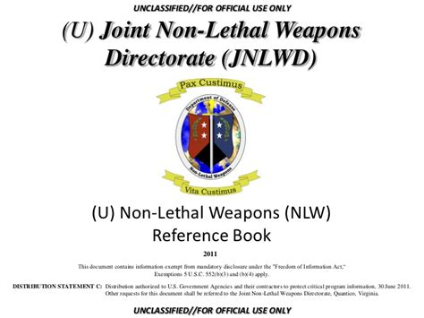 reference book uses non lethal weapons reference book 2011