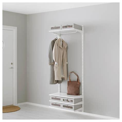 algot wall upright shelves rod white 66x41x197 cm ikea