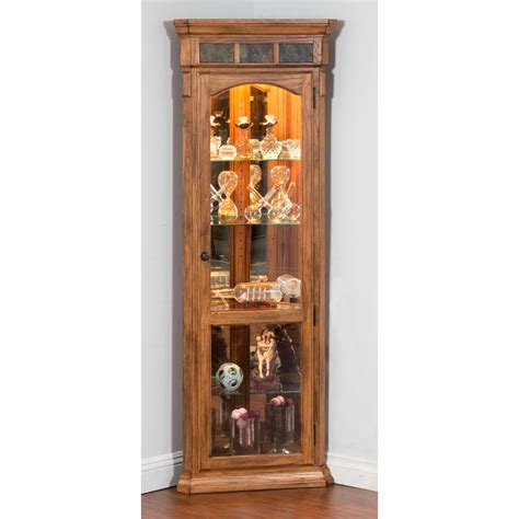 oak corner curio cabinet designs sedona corner curio cabinet rustic oak