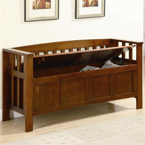 coaster storage bench coaster benches 501008 wood storage bench del sol