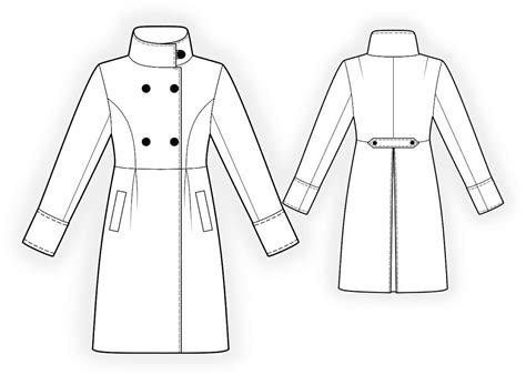free sewing pattern lab coat manteau patrons de couture 4192 made to measure sewing