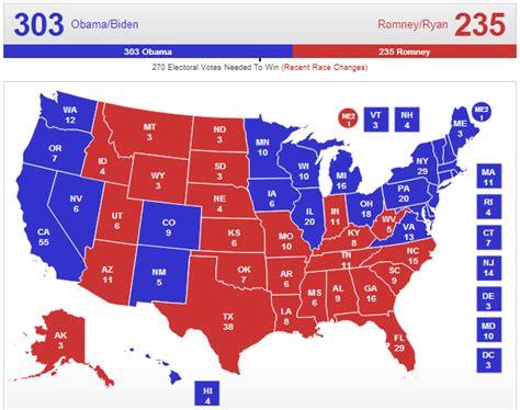 2012 electoral map predictions 11 6 election day