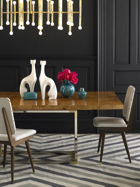 Jonathan Adler Dining Table Wood And Metal Dining Table From Jonathan Adler Decoist