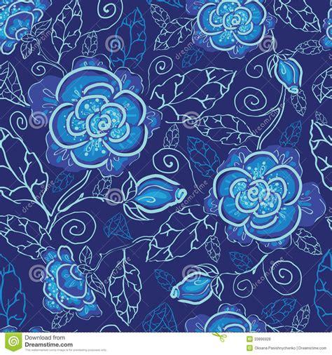 Muster Hintergrund Blumen Blau by Blue Flowers Seamless Pattern Background Royalty