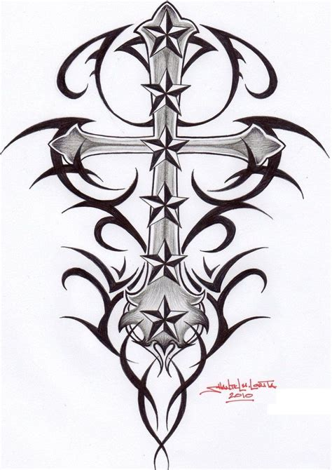 cross with stars tattoo tribal celtic cross tribal cross by smekeal00 on