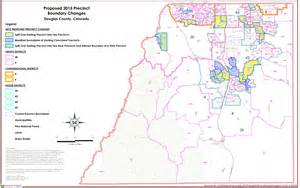 map of douglas county colorado growth prompts voter precinct changes in douglas county co
