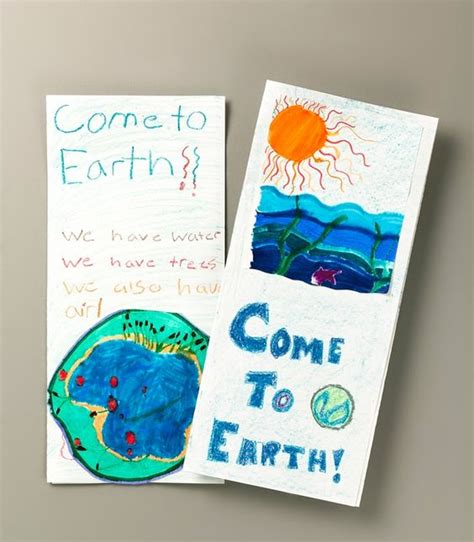 How To Make A Travel Brochure With Paper - extraterrestrials visit earth lesson plan make a travel