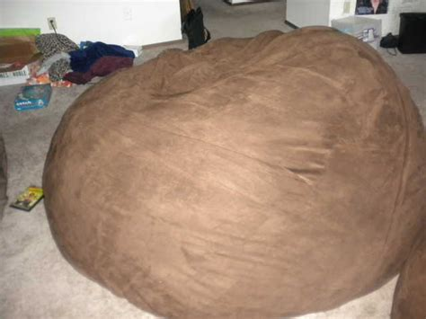 lovesac price 6 brown suede lovesac practically brand new 200