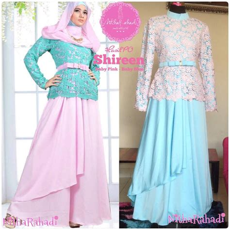 Gamis Hitam Dress Muslimah Baju Murah Saralee Dress Murah kebaya modern dan baju pesta artis shireen dress made by