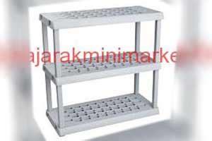 Rak Plastik Serbaguna 3 Susun Tingkat Ukuran Besar rajarak rak minimarket rak toko gudang besi jual murah jakarta