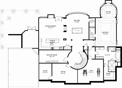 basement home floor plans fairview 7971 5 bedrooms and 5 baths the house designers