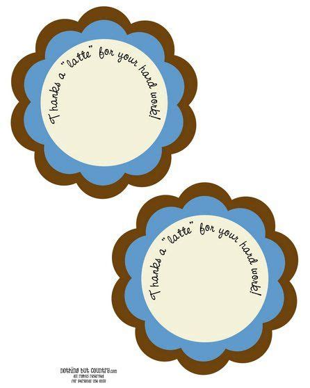thanks a latte printable jasey s 13 best images about staff appreciation on award certificates thanks a latte and gifts