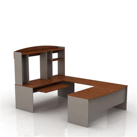 modern wooden office desk 3d model cgtrader