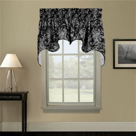Black Window Valances And Swags buy valance and tier curtains from bed bath beyond
