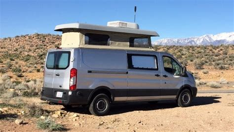 modvans turns  ford transit   modular modern camper van