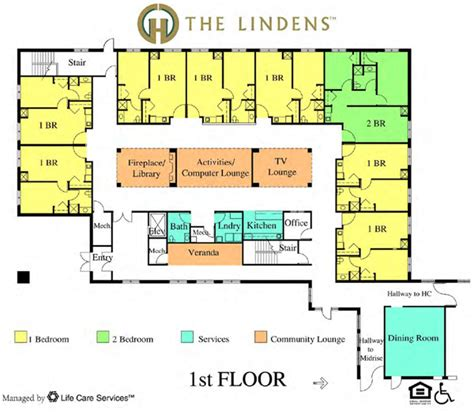 assisted living floor plan the lindens assisted living suites green hills