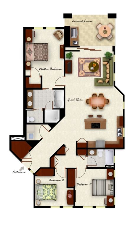 3 bedroom villa floor plans kolea floor plans
