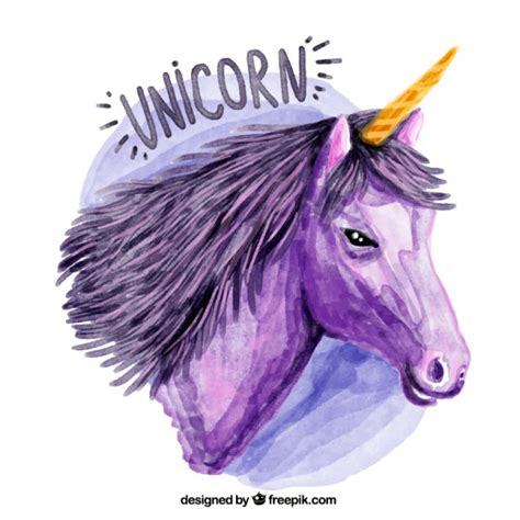 imagenes de unicornios morados unicornio art 237 stico morado de acuarela descargar