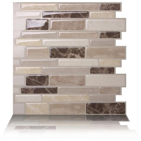 decorative wall tiles kitchen backsplash tic tac tiles polito bella 10 in w x 10 in h peel and