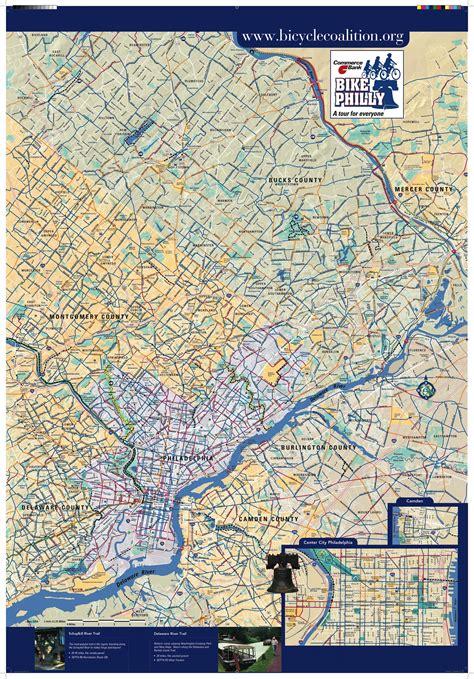 maps philadelphia usa bike map philadelphia philly bike map pennsylvania usa