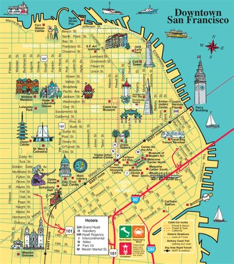 san francisco map attractions pdf maps update 550540 san francisco tourist map pdf san