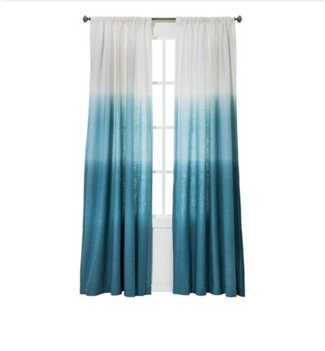 ombre turquoise curtains garage remodel pinterest