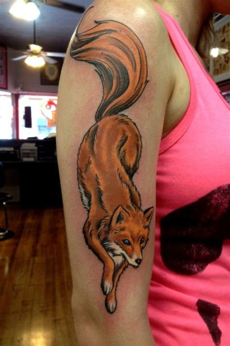 finger tattoo fox full color fox tattoo by ron dolecek lucky devil tattoo