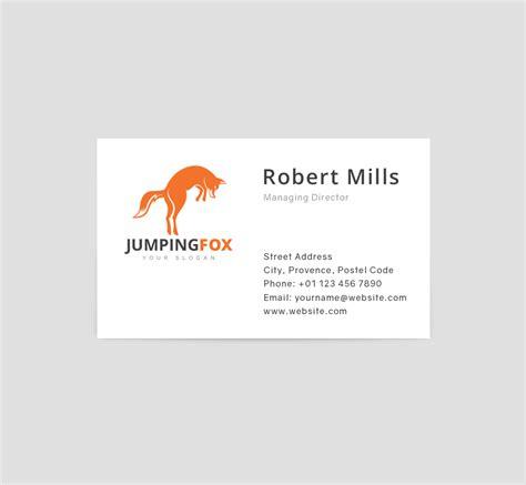 watermark business card template jumping fox logo business card template the design