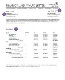 Financial Aid Acceptance Letter Exle Doc 626765 Financial Aid Award Letter Bizdoska
