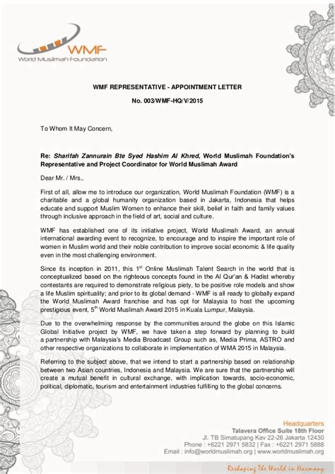 Management Representative Appointment Letter Sle by Appointment Letter Representative 28 Images Navy