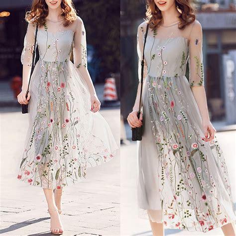 Summer Embroidery Dress summer embroidery boho dress evening