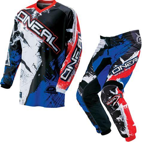 motocross gear sets oneal element kids 2016 shocker motocross kit atv quad