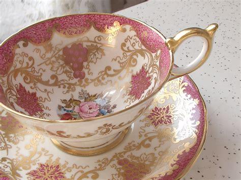 antique pink tea cup and saucer set vintage by shoponsherman