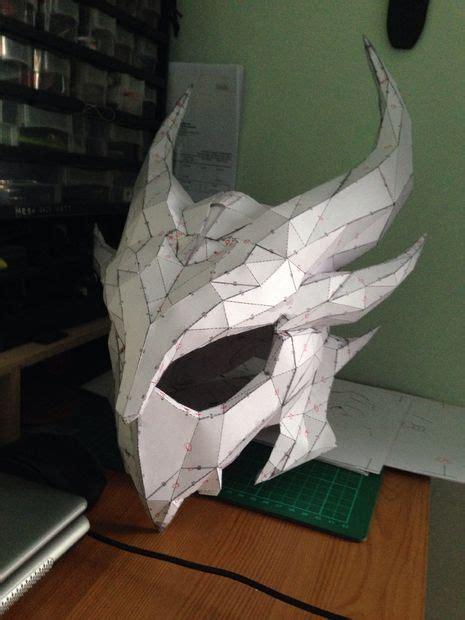 Skull Mask Papercraft - pepakura helmets 14 steps