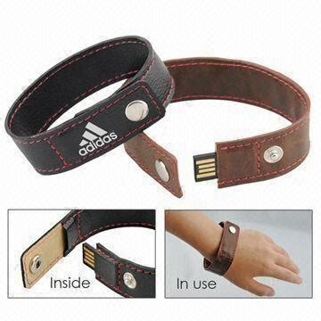 leather usb drive usb2 0 flash disk bracelet usb key