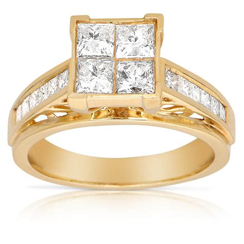14k yellow gold 1 2ct tdw engagement ring