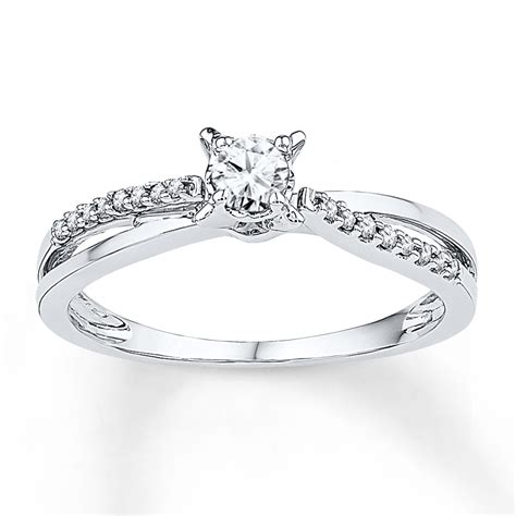 jared promise ring 1 4 ct tw cut 10k white