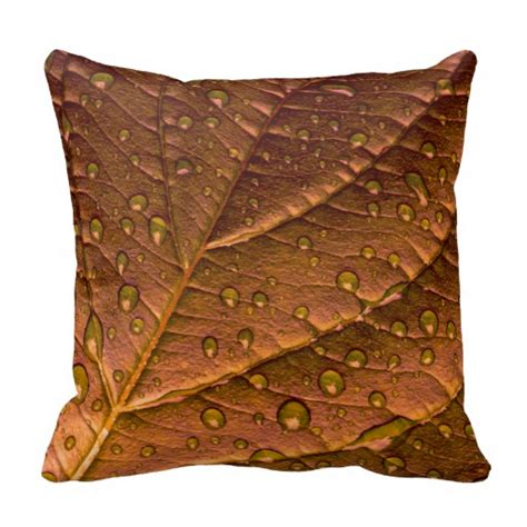 leaf pattern pillow bronze toned leaf pattern throw pillows zazzle