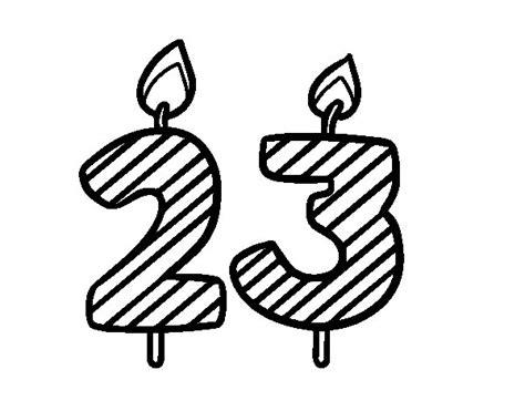 imagenes de cumpleaños numero 23 dibujo de 23 a 241 os para colorear dibujos net