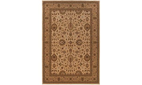groupon area rugs monarch logan ivory beige classic area rug groupon