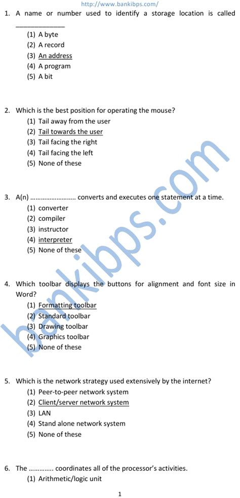 quiz questions related to computer computer science objective questions and answers pdf