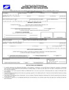 maternity notification exle form fill