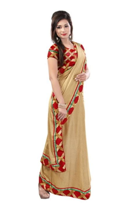 Blouse Fashion Bordirr buy yellow printed lace border geoergette saree with blouse