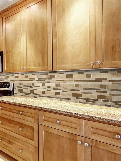 kitchen backsplash travertine travertine subway mix backsplash tile for kitchen