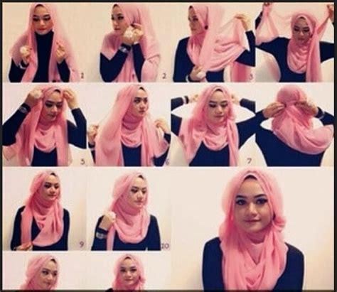 foto tutorial hijab turban segi empat kumpulan tutorial hijab segi empat terbaru 2014