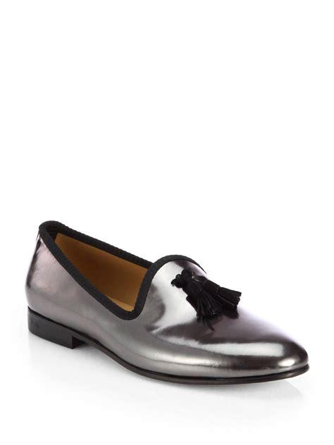 toro slippers mens lyst toro tassel prince slippers in metallic for