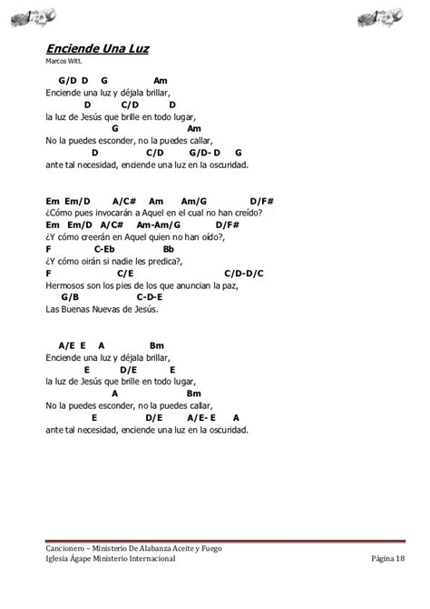 cadenas de coros alegres escritos cancionero letras y acordes iglesia hecho por luis lara