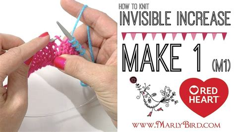 invisible knit increase knitting how to make 1 m1 invisible increase