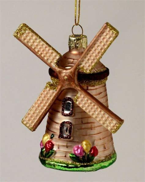 dutch windmill netherlands holland glass christmas