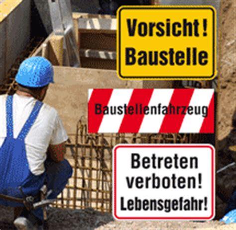 Baustellenschild Notwendig by Kennzeichnungen Auf Baustellen Aufkleber Shop